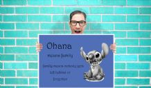 Lilo and Stich - Ohana - Wall Art Print Poster   Geekery